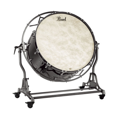 Pearl Concert Bass Drums w/ Suspended Stand - Midnight Black