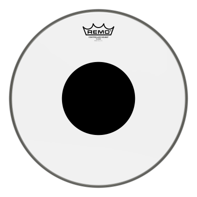 Remo Controlled Sound Clear Drumheads w/ Black Dot