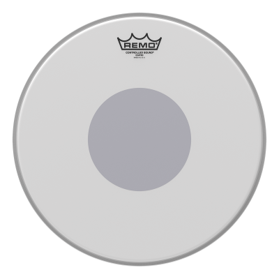 Remo CONTROLLED SOUND Drum Head - Clear w/ BLACK DOT On Top 15 inch
