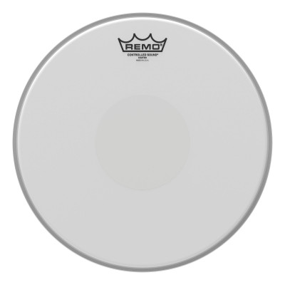 "Remo Batter CONTROLLED SOUND Coated 13"" Diameter Clear Dot On Bottom"