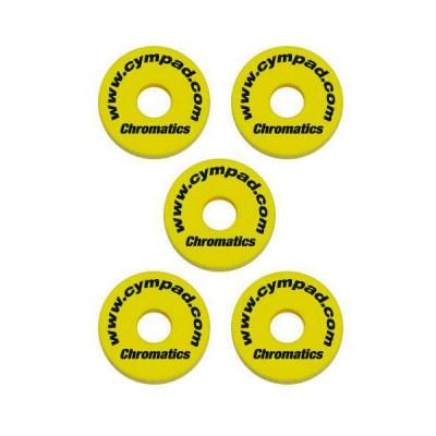 Cympad Chromatics Cymbal Washers 40/15mm Yellow - 5pk