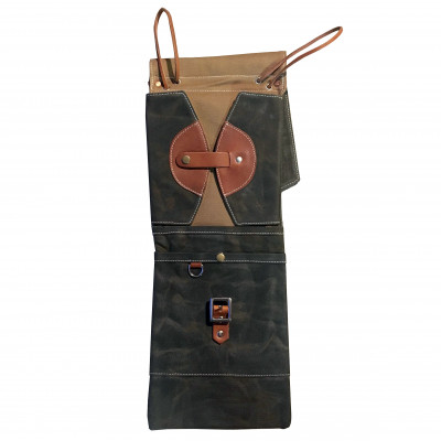 Tackle Waxed Canvas Compact Stick Case - Forest Green