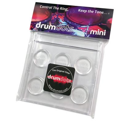 Drum Dots Mini Clear Damper Pads - Pack of 6