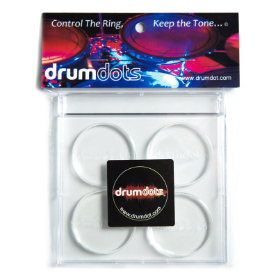 Drum Dots Clear Damper Pads - Pack of 4