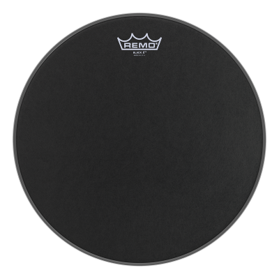 Remo Emperor X Black Suede Drumheads w/ Black Bottom Dot