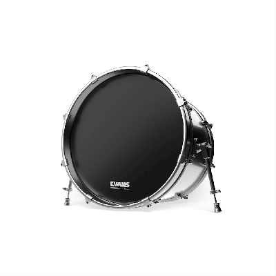 "Evans 28"" EQ3 Resonant Black No Port Bass Drum Head"