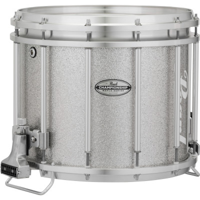 Pearl Championship Maple Series FFXML Marching Snare Drums in Silver Sparkle Lacquer
