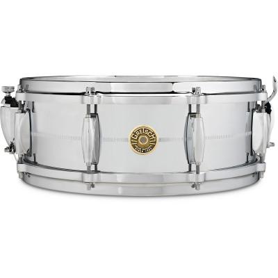 "Gretsch 5"" x 14"" Chrome Over Brass Snare Drum"