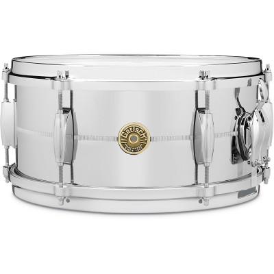 "Gretsch 6"" x 13"" Chrome Over Brass Snare Drum"