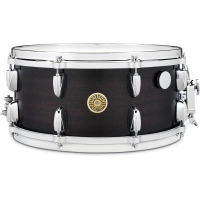 """Gretsch 6.5"""" x 14"""" Ebony Ribbon Mahogany Snare Drum"""