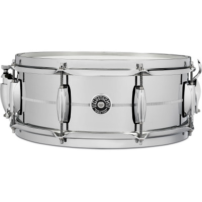 "Gretsch Brooklyn 5"" x 14"" Chrome Over Brass Snare Drum"