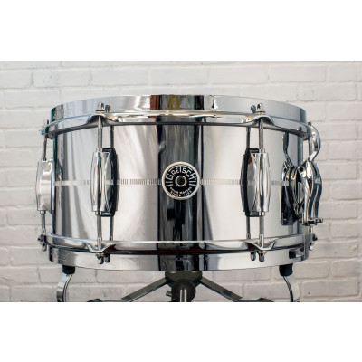 "Gretsch Brooklyn 6"" x 12"" Chrome Over Steel Snare Drum"