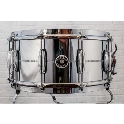"Gretsch Brooklyn 6.5"" x 14"" Chrome Over Steel Snare Drum"