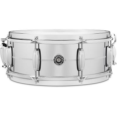 "Gretsch Brooklyn 5"" x 14"" Chrome Over Steel Snare Drum"