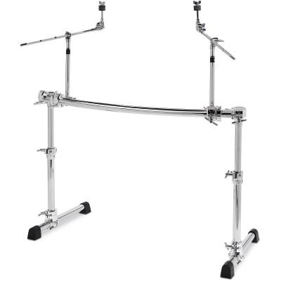 Gibraltar GCS500H Chrome Series Height Adjustable Curved Rack w/ Boom Arms