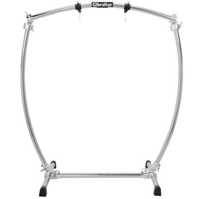 "Gibraltar GCSCG-L Large Curved Chrome Gong Stand for up to 40"" Gongs"