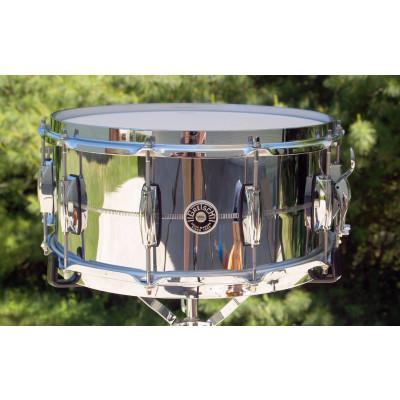 "Gretsch Brooklyn 6.5"" x 14"" Chrome Over Brass Snare Drum"