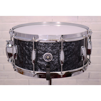 "Gretsch Brooklyn Series 6.5"" x 14"" Snare Drum in Deep Black Marine Pearl"