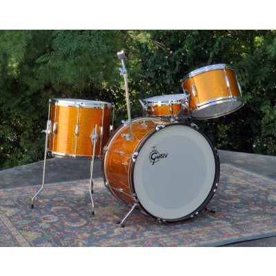 Gretsch Refurbished 60's Playboy 4pc Shell Pack - Gold Sparkle