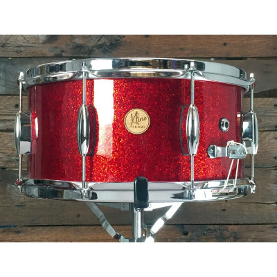 "Kline Drums 14"" x 7"" 3 ply Snare in Red Sparkle"