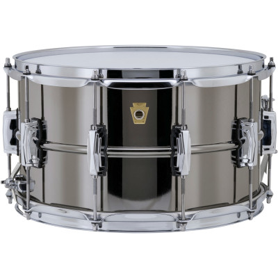 "Ludwig 8"" x 14"" Black Beauty Supraphonic Snare Drum"