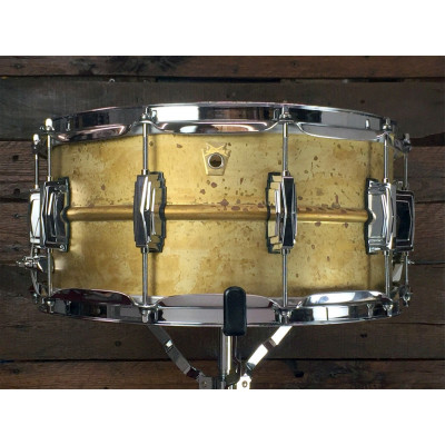 "Ludwig 6.5"" x 14"" Raw Brass Snare Drum"