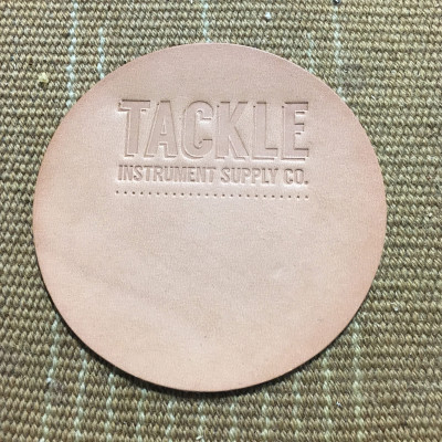 Tackle Small Leather Bass Drum Patch