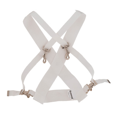 Ludwig Standard Marching Bass Drum Sling - White