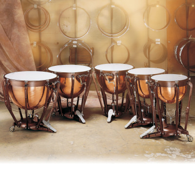 Ludwig Professional Series Timpani w/ Hammered Copper Bowls