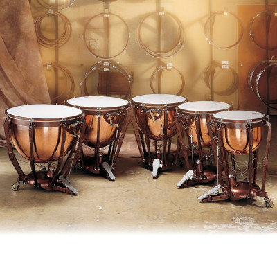 Ludwig Professional Series Timpani w/ Polished Copper Bowls