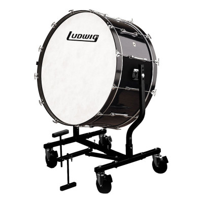 Ludwig Concert Bass Drum w/ LE787 Tilting Stand - Black Cortex