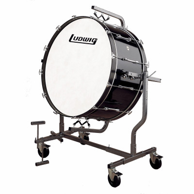 Ludwig Concert Bass Drum w/ LE788 Suspended Stand - Black Cortex