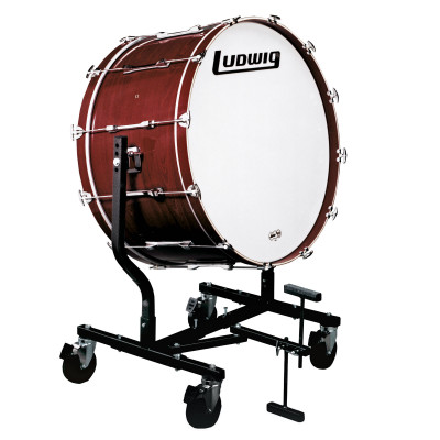 Ludwig Concert Bass Drum w/ LE787 Tilting Stand - Mahogany Stain
