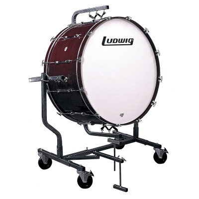 Ludwig Concert Bass Drum w/ LE788 Suspended Stand - Mahogany Stain