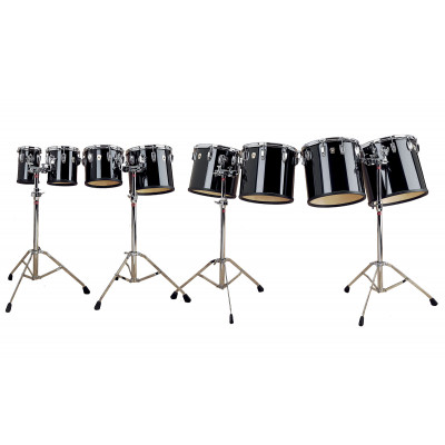 Ludwig Maple Concert Toms - Black Cortex Finish