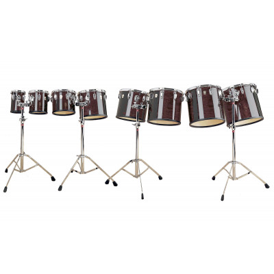 Ludwig Maple Concert Toms - Gloss Mahogany Stain