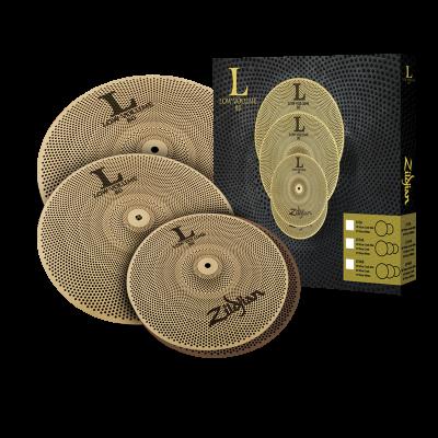 "Zildjian Low Volume 3 Cymbal Box Set w/14"" Hats 16"" Crash - LV348"