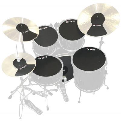 Vic Firth Jazz 5pc Drum & 3pc Cymbal Mute Prepack