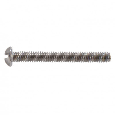 """Ludwig 6-32 X 1"""" Slotted Round Head Screw"""