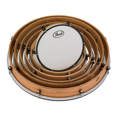 """Pearl Tunable Frame Drum Pack - Includes 8,10,12,14,16,18"""" Drums w/ Coated Heads"""
