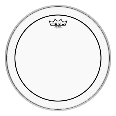 Remo PINSTRIPE Drum Head - Crimplock - Clear 14 inch