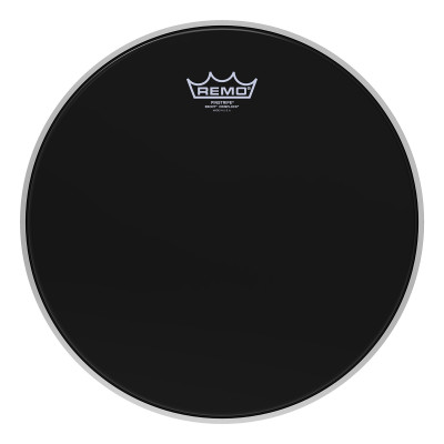 Remo PINSTRIPE Drum Head - Crimplock - Ebony 12 inch