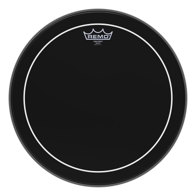 Remo PINSTRIPE Drum Head - EBONY 15 inch