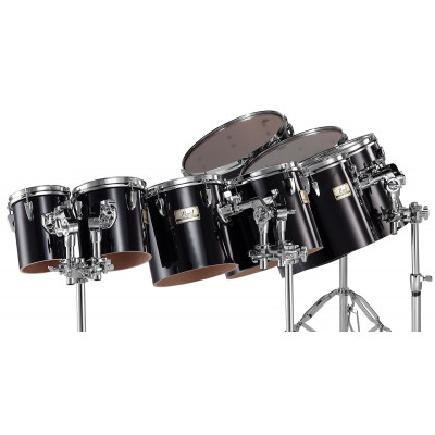 Pearl Concert Toms in Midnight Black Finish