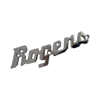 Rogers Script Logo Badge w/ Screws