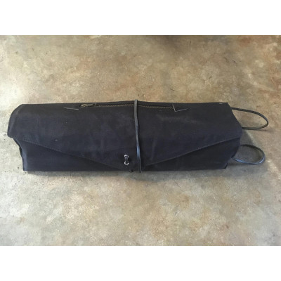 Tackle Waxed Canvas Roll-Up Stick Case - Black