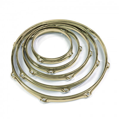 Worldmax 2.3mm Triple Flanged Drum Hoops - Brass Finish