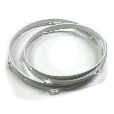 Worldmax 2.3mm Triple Flanged Drum Hoops - White Powder Coated Finish