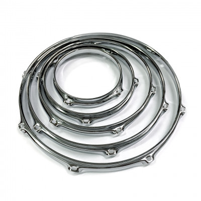 Worldmax 2.3mm Triple Flanged Drum Hoops - Chrome Finish