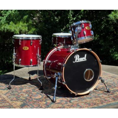 Pearl VMX Vision 4pc Shell Pack with MCX Masters Snare Drum - Wine Red